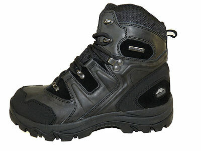 """Pacific Trail Denali Mens Black Waterproof 6.5"""" Leather / Synthetic Hiking Boots"""