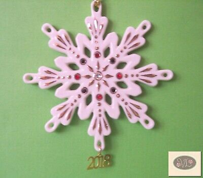 NEW in Box - LENOX 2018 Annual Gemmed Snowflake Christmas ...