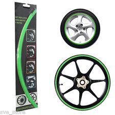 """GREEN"" Reflective Rim Stripe Decorative sticker for Car & Bike - Self Adhesive"