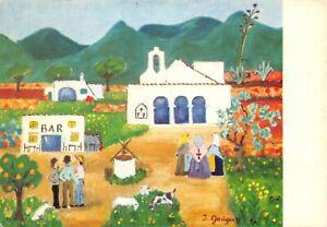 Vintage-Art-Postcard-Pintura-Naif-Ingeborg-Gauger-Spain-Spanish-40R