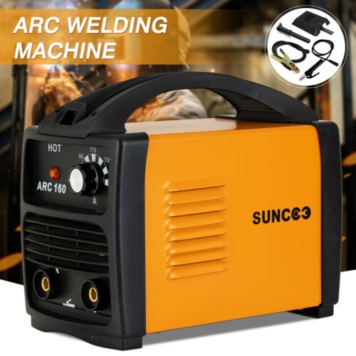ARC-160 Welding Machine 110V 160 Amp Stick Portable Welder w// Mask Brush Yellow