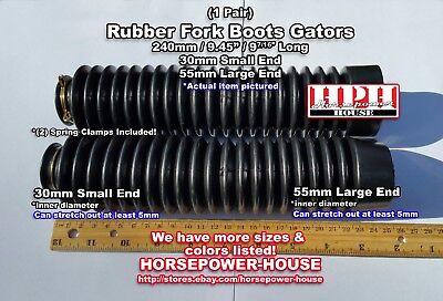 30mm Rubber Fork Boots Gaiters Gators @ Vintage Honda Kawasaki Suzuki Motorcycle