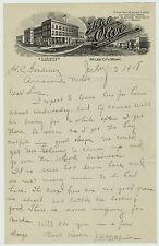 RARE  -1918  Hotel Olive Letterhead - Miles City Montana MT - Great Graphic