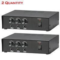 Pyle Pair Of Pmsa20 Compact 50 Watt Pa Mini Amplifier Multi-source 1/4'' Inputs