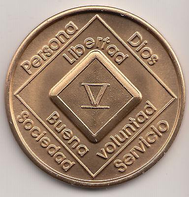 Narcoticos Anonimos recuparse medalla ficha moneda 18 Anos XVIII