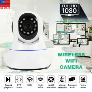 Wireless IP Camera 1080P HD Outdoor Waterproof WiFi Home Security Night Vision