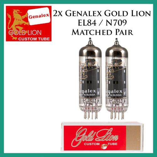 New 2x Genalex Gold Lion EL84 Two Tubes N709 Duet 6BQ5Matched Pair