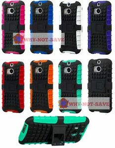 Premium Deluxe Hard ShockProof Rugged Impact stand Case Cover for HTC One M8 New