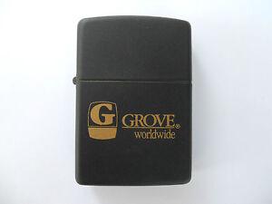 GROVE-BRIQUET-ZIPPO-PUBLICITAIRE-STICTEMENT-NEUF-AVEC-BOITIER
