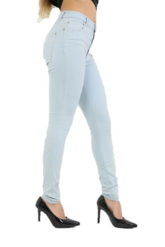 Ladies EX Mango Slim Fit Jeggings Colorato Elasticizzato Tinta Unita Jeans Attillati