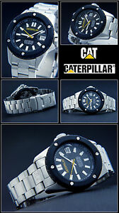 Diver-039-s-Cat-Massive-Steel-Shock-Protected-Unisex-Watch-20-Tight-New-bar-Water