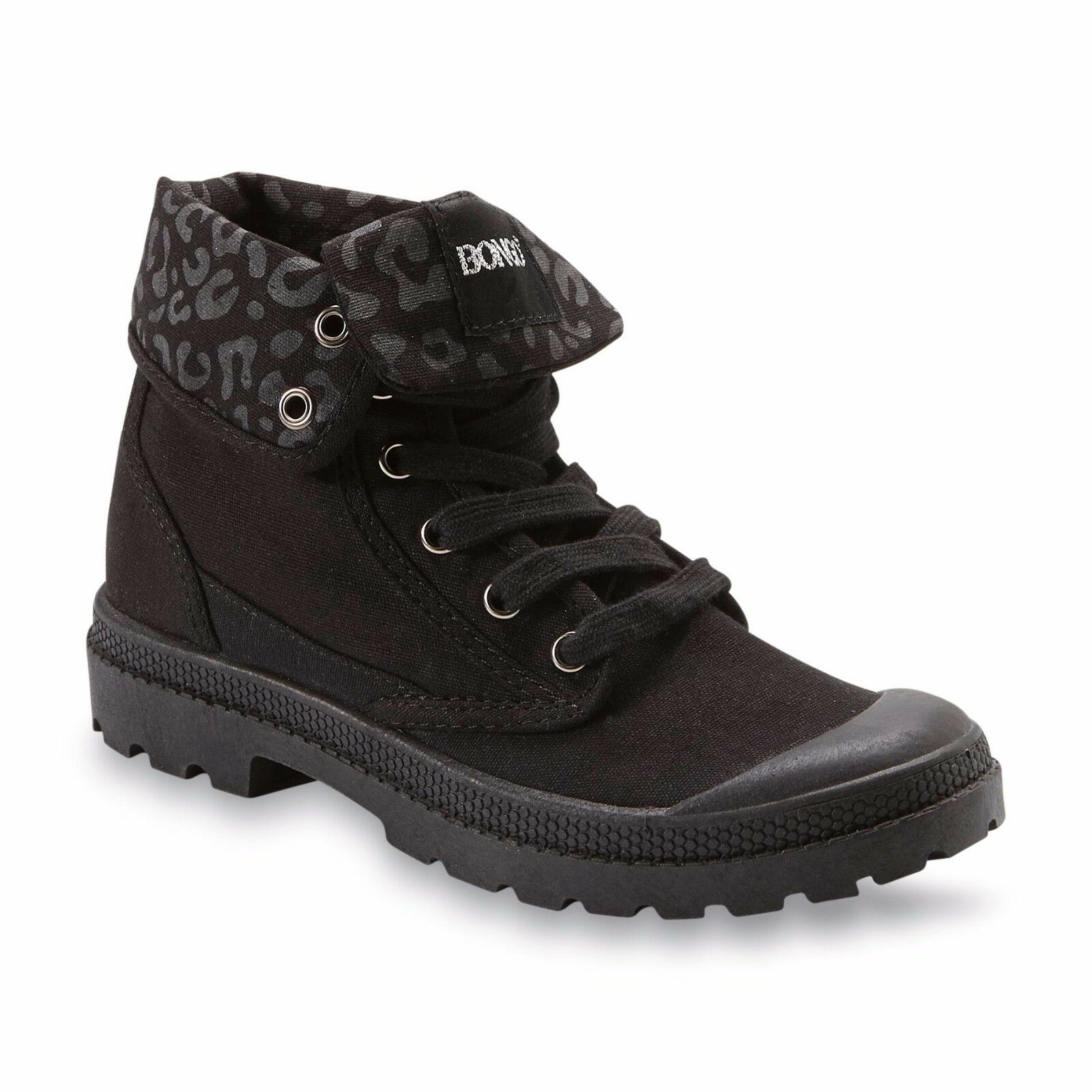 Bongo Women's Tippi Black High-Top Bump-Toe Sneaker shoes Size 7 Medium