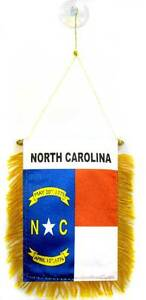 "Wholesale lot 3 State North Carolina Mini Flag 4""x6"" Window Banner suction cup"