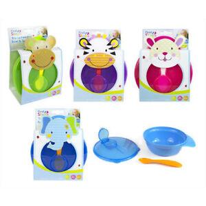 Baby-Travel-Bowl-Spoon-Self-Feeding-Set-Outdoor-Weaning-Food-BPA-Free-UK-SELLER