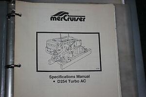 mercruiser spec manual d254 turbo ac sis 1044 890 ebay rh ebay com Service Station Owner's Manual
