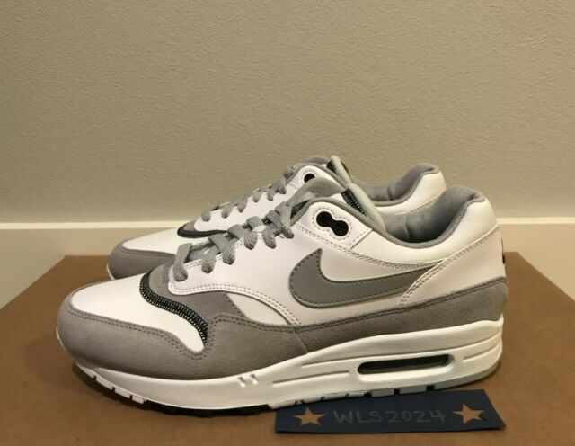 air max 1 black white wolf grey