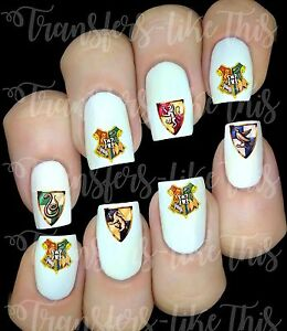 Harry-Potter-houses-sticker-autocollant-ongles-manucure-nail-art-water-decal