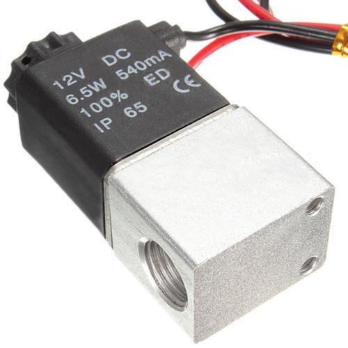 venditore UK 1//4 pollice DC 12 V 2 VIE normalmente chiuso valvola solenoide elettrico d/'aria