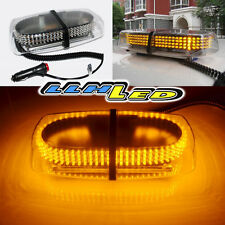 DC12V MAGNETIC 240 AMBER LED FLASHING STROBE LIGHT FOR ROOF TOP PLUG N PLAY