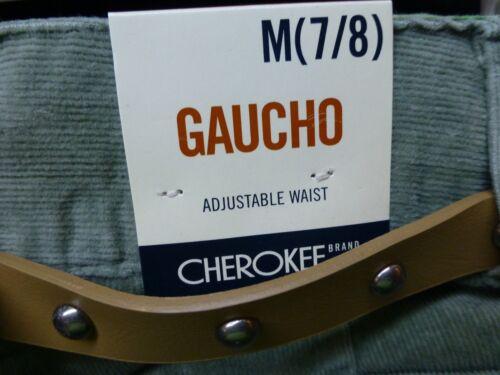 Cherokee Girls Size Medium 7//8 Green Gaucho Capri Pants Fine Corduroy New