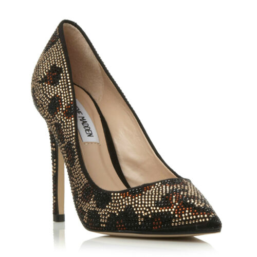 High Embellished Pizazz Gold Courts Diamante Size Madden Heel Party Steve 3 XHPwqx