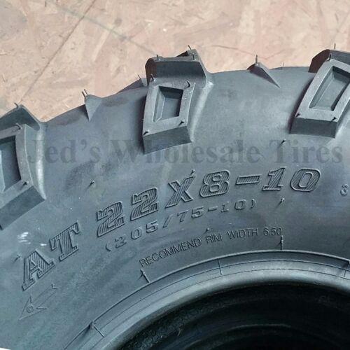 TWO AT 22x8-10 ATV TIRE Sedona MUD REBEL 22//8-10 22x8.00-10 22//8.00-10  6ply