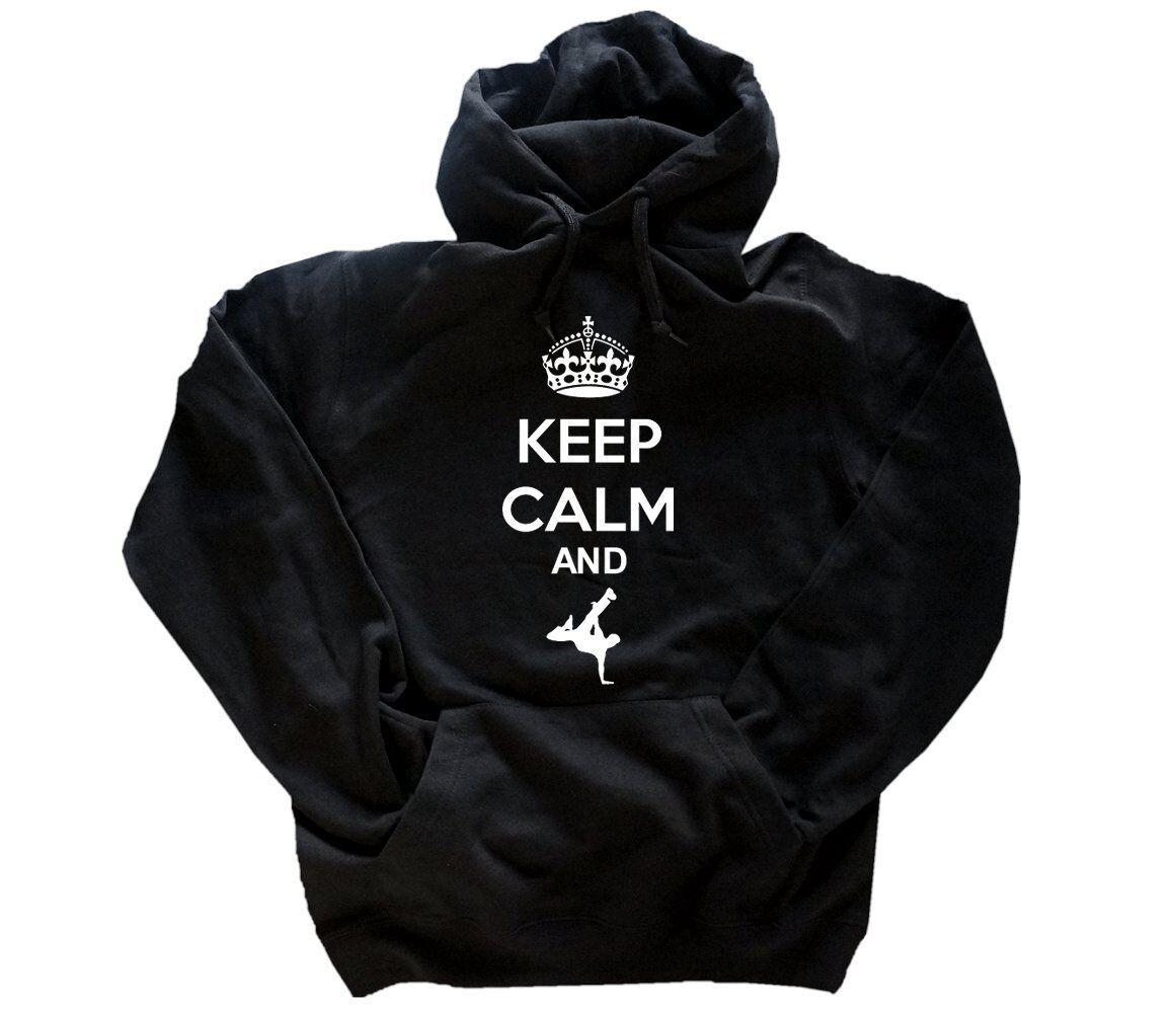 Keep Calm And II Breakdancer (Danseur de Style Hip-Hop) Hiphop Sweat à Capuche