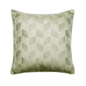 Decorative 18x18 inch Geometric Ivory Jacquard Silk Pillow Cover - Just Ivory