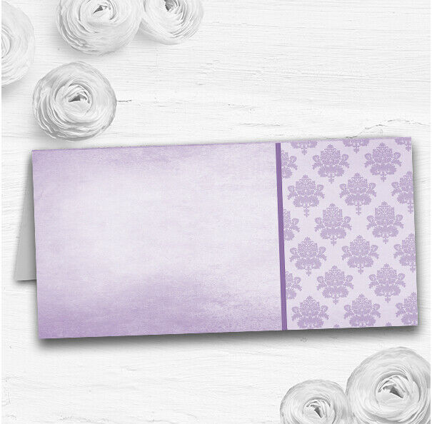 Vintage Damask Initials Lilac lila Wedding Table Seating Name Place Cards