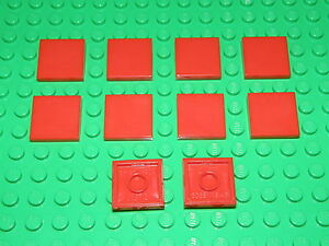 LEGO 100 x RED FLAT TILES BRICKS 1 x 2  No 3069  CITY-STAR WARS-FRIENDS-MOVIE