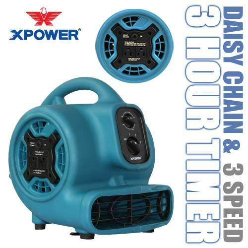 XPOWER P-230AT 1/5 HP Mini Air Mover Portable Carpet Dryer Floor Fan Blower