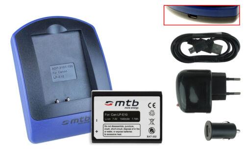 Baterìa+Cargador USB Rebel T3 LP-E10 para Canon EOS 1100D
