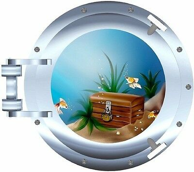 Treasure chest porthole decal Camper RV motor home mural graphic