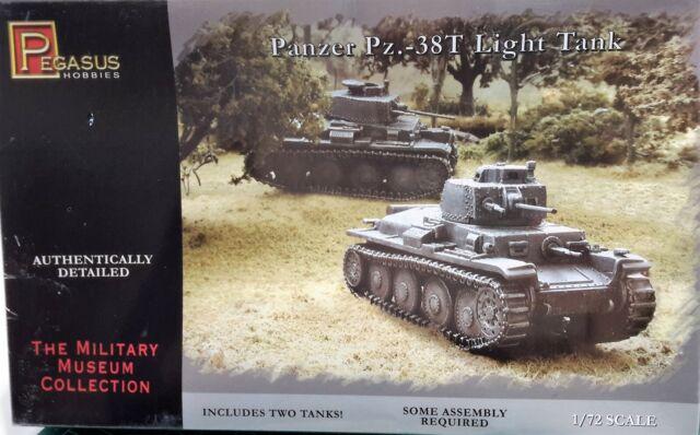 Panzer PZ 38t Light Tank 2 Plastic Kit 1-72 Pegasus