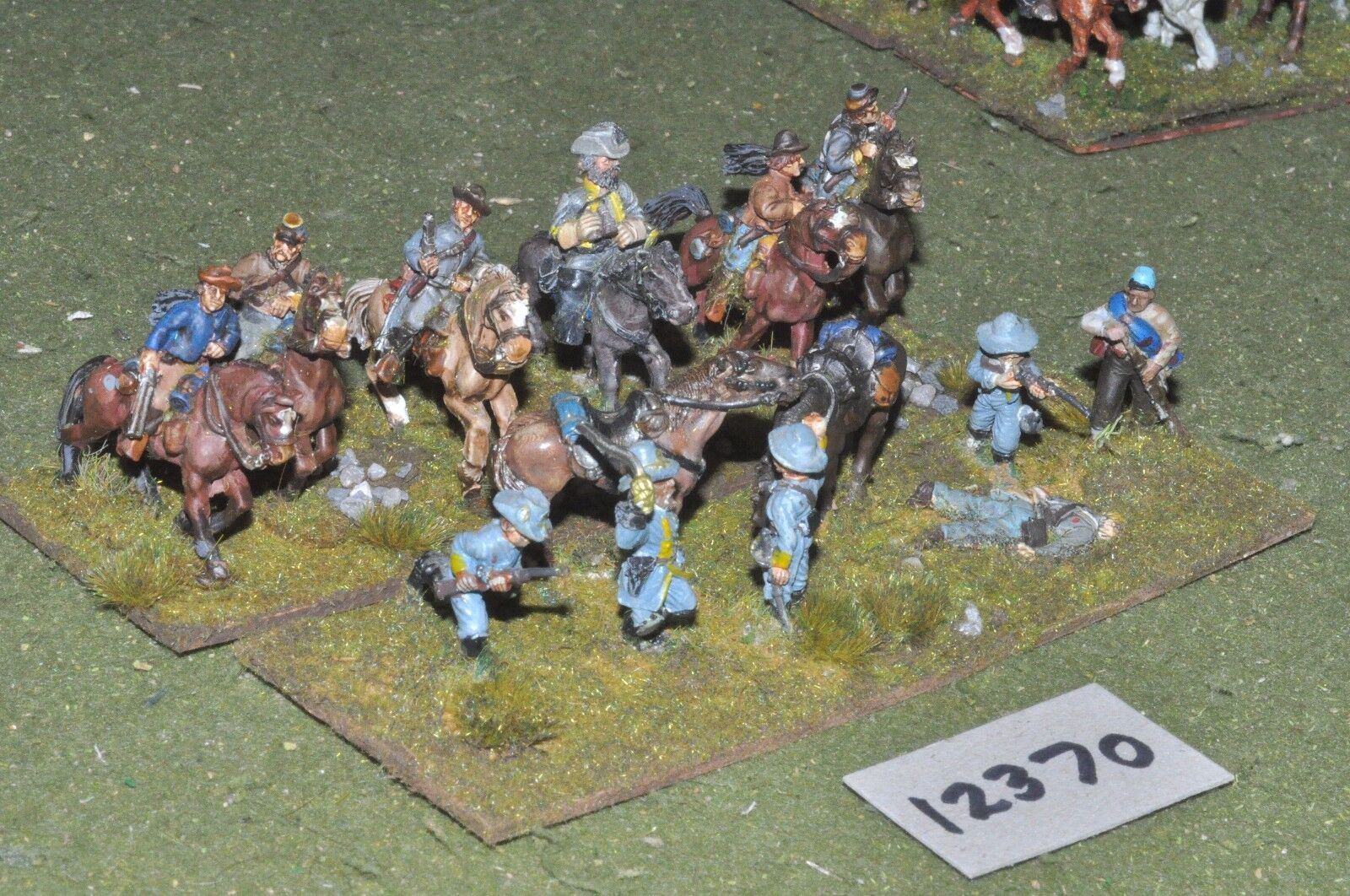 25mm ACW   confederate - american civil war cavalry - cav (12370)
