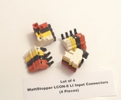 4 Pieces Lot of 4 WattStopper LCON-8 LI Input Connector Prepaid Shipping