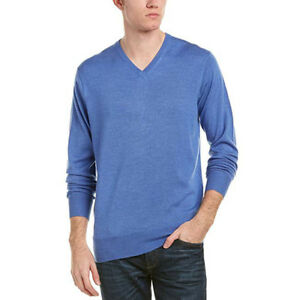 5c2194b2e NEW  160 Peter Millar Crown Soft Mens Sweater S Blue Merino Wool ...