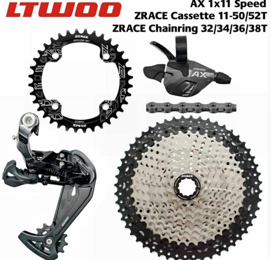 LTWOO MTB 1x11 Speed Groupset  AX11 46T 50T 52T Cassette Chainring 11S group