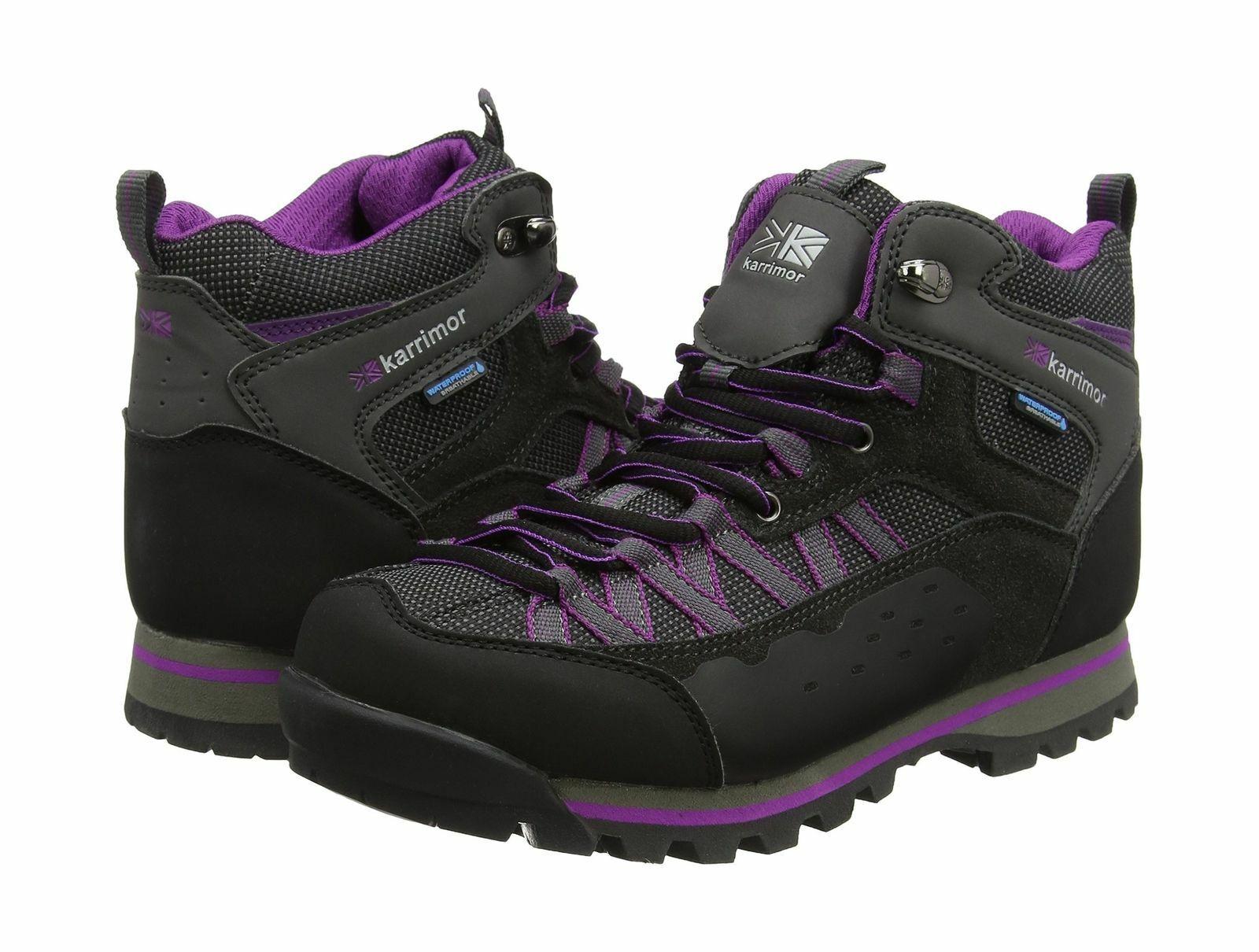Karrimor pico a mediados de 2 Damas weathertite Negro Púrpura Talla nos 5
