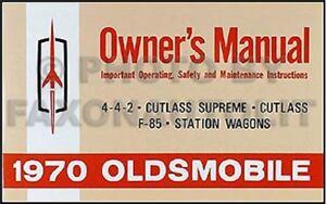 1970 Ans Cutlass Propriétaire Manuelle 70 S F85 Supreme 442 Owners Livre Guide Pjssa2b6-08000633-196536080