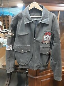 c4a95fb76 Details about RARE LARGE MEN'S VINTAGE GUESS FLYERS CLUB '81 AIR COMMAND  LEATHER BOMBER JACKET