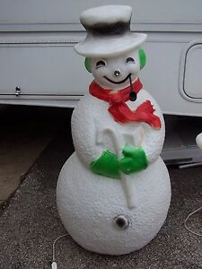 "#5 CHRISTMAS BLOW MOLD YARD DECORATION 41""UNION SNOWMAN ..."