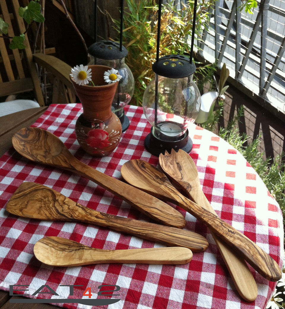 Kitchen Tools Selection from Spoons, Spatula Risotto Spoon, Olive Wood, Wood