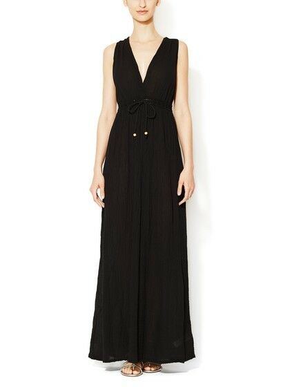 French Connection 'Authentic Grecian' schwarz Maxi Dress Sz M - Beautiful & NWT
