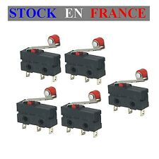 Lot de 5 - Micro switch - Interrupteur Fin de Course a Roulette - Arduino