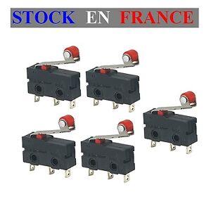 Lot-de-5-Micro-switch-Interrupteur-Fin-de-Course-a-Roulette-Arduino