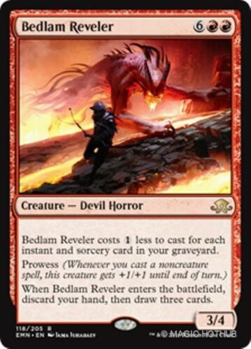 BEDLAM REVELER Eldritch Moon MTG Red Creature — Devil Horror Rare