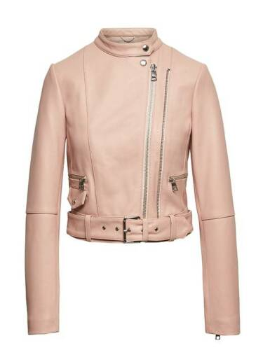 Republic Leather Nwt Banana Xs Pink Moto Sz Cropped Peachy Heritage Jacket 5xp44CwYq