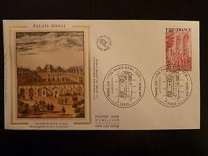 Ambitieux France Premier Jour Fdc Yvert 2049 Palais Royal 1f Paris 1979 Brillant
