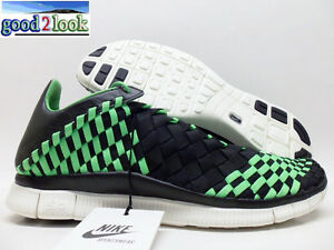 cheap for discount 4ccbe 2a6d1 Image is loading NIKE-FREE-INNEVA-WOVEN-BLACK-POISON-GREEN-SIZE-